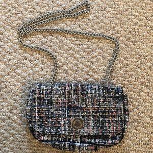 Zara Crossbody Bag Multicolor with Silver Chain